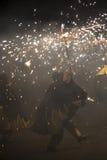 La Merce, Correfoc, funcionamiento del fuego Fotografía de archivo libre de regalías
