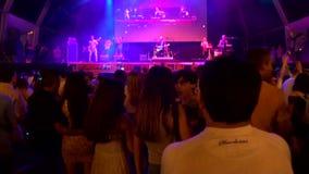 La Merce Free Music Concert in Barcelona stock video
