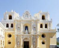 La Merced教会在安提瓜岛,危地马拉 免版税图库摄影