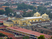 La Merced Cathedral in Antigua Guatemala royalty free stock photography