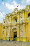 La merced church in antigua city in guatemala. Central america Royalty Free Stock Photos