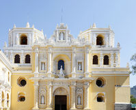 La Merced church in Antigua, Guatemala. Against blue sky Royalty Free Stock Photography