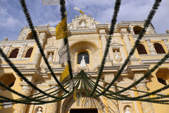 La Merced Church in Antigua, Guatemala stock photo