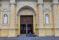 La Merced church Antigua. ANTIGUA , GUATEMALA - JULY 30 : La Merced church in Antigua , Guatemala. on July 30 2015 La Merced was originally built in 1548 royalty free stock image
