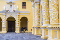 La Merced church Antigua. ANTIGUA , GUATEMALA - JULY 30 : La Merced church in Antigua , Guatemala. on July 30 2015 La Merced was originally built in 1548 stock photography