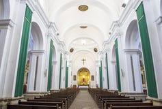 La Merced church Antigua. ANTIGUA , GUATEMALA - JULY 30 : The interior of La Merced church in Antigua , Guatemala. on July 30 2015 La Merced was originally built royalty free stock images
