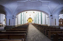 La Merced church Antigua. ANTIGUA , GUATEMALA - JULY 30 : The interior of La Merced church in Antigua , Guatemala. on July 30 2015 La Merced was originally built stock photos