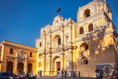 La Merced Church in Antigua, Guatemala royalty free stock photo