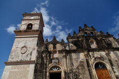La Merced church from Granada. La Merced Church dating from 1534 in the colonial city of Granada, Nicaragua, Central America royalty free stock images