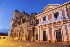 La Merced Church in Granada. Granada, Nicaragua royalty free stock photos