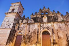 La Merced Church in Granada. Granada, Nicaragua royalty free stock photo
