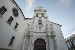La Merced church in Sucre, capital of Bolivia. South America royalty free stock images