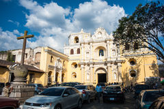 La Merced. Exterior view of La Merced Church and Convent in Antigua, Guatemala on February 22, 2014 Stock Images