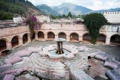 La Merced. The fountain inside La Merced Church and Convent in Antigua, Guatemala on February 22, 2014 Royalty Free Stock Image