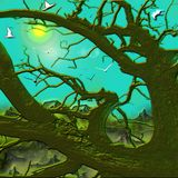 La merveille des montagnes à la vie et à la paix illustration libre de droits