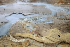 La merveille géothermique sur la péninsule de Reykjanes Images stock
