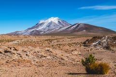 La meseta andina de la mucha altitud fuera de Salar de Uyuni, Bolivia fotos de archivo libres de regalías
