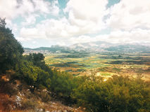 La meseta de Lassithi crete Grecia imágenes de archivo libres de regalías