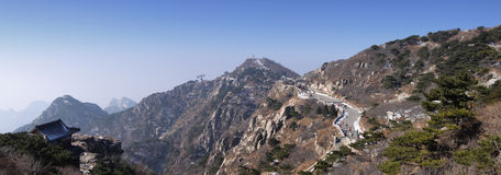 La meseta superior de China de la provincia de taishan Shandong del soporte Foto de archivo