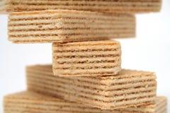 La metà di DNA fatta delle cialde con una crema della vaniglia Fotografie Stock Libere da Diritti