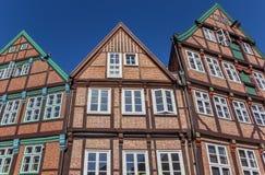 La metà ha armato in legno le case nel centro urbano storico di Stade Fotografie Stock Libere da Diritti