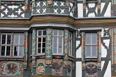 La metà ha rafforzato la Camera con legname in Germania fotografia stock libera da diritti