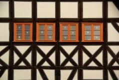 La metà di Erfurt ha rafforzato 04 con legname Fotografia Stock Libera da Diritti