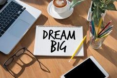 La meta grande del sistema del sueño diario grande ideal del planificador toma medidas Fotos de archivo libres de regalías