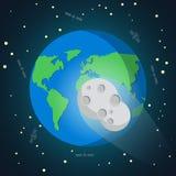 La meteora a forma di stella cade alla terra Illustrazione Vettoriale