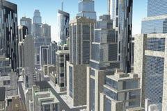 La metrópoli 3D rinde foto de archivo libre de regalías