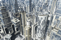 La metropoli 3D rende Immagine Stock