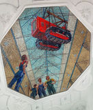 La metropolitana di Mosca (Novokuznetskaya) Immagine Stock Libera da Diritti