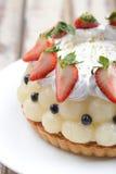 La mezcla da fruto las tortas imagen de archivo libre de regalías