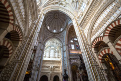 La Mezquita Cathedral in Cordoba, Spain. The cathedral was built. Inside of the former Great Mosque Stock Image