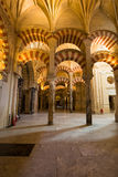 La Mezquita Cathedral in Cordoba, Spain. The cathedral was built. Inside of the former Great Mosque Royalty Free Stock Photography