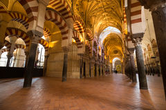 La Mezquita Cathedral in Cordoba, Spain. The cathedral was built. Inside of the former Great Mosque Stock Photo