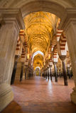 La Mezquita Cathedral in Cordoba, Spain. The cathedral was built. Inside of the former Great Mosque Stock Photography