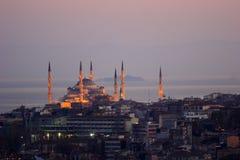 La mezquita de Ahmed del sultán - mezquita azul de Estambul Imagen de archivo libre de regalías