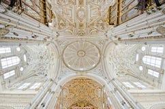 La Mezquita De Cordoue, image grande-angulaire de cathédrale Photographie stock libre de droits