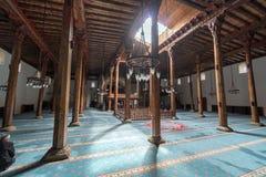 La mezquita de Esrefoglu es una de las formas de arte más importantes de woodw Imágenes de archivo libres de regalías