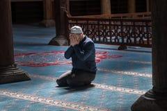 La mezquita de Esrefoglu es una de las formas de arte más importantes de woodw Imagenes de archivo