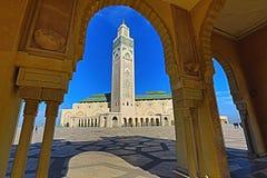 La mezquita de Hassan II, Casablanca, Marruecos imagen de archivo