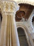 La mezquita de Hassan II - detalles hermosos de la arquitectura y de la decoración imágenes de archivo libres de regalías
