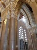 La mezquita de Hassan II - detalles hermosos de la arquitectura y de la decoración imagen de archivo