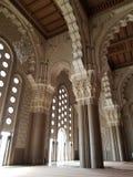 La mezquita de Hassan II - detalles hermosos de la arquitectura y de la decoración fotografía de archivo