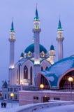 La mezquita de Kul-Sharif en la iluminación de la noche Fotos de archivo libres de regalías