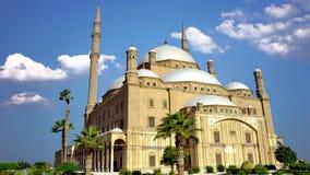 La mezquita de Muhammad Ali está situada en El Cairo, la capital de Egipto almacen de metraje de vídeo