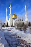 La mezquita de NUR ASTANÁ en Astaná/Kazajistán Imágenes de archivo libres de regalías