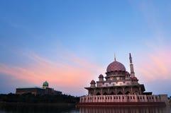 La mezquita de Putra Fotos de archivo