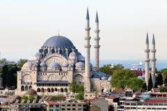 La mezquita de Suleymaniye Camii en el centro de Ista Imagen de archivo libre de regalías